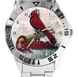 MLB St Louis Cardinals Watch Stainless Steel Band